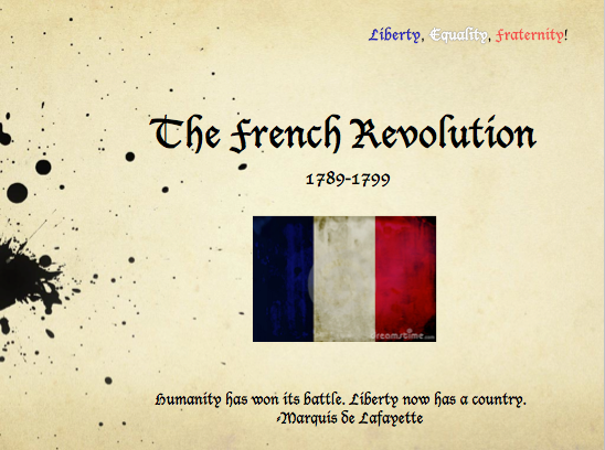 the french revolution thematic essay sample